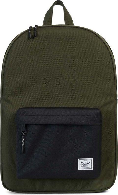 Рюкзак городской Herschel Classics, цвет: хаки, черный, 22 л. 10001-01572-OS332515-2800Рюкзак Herschel Classic целиком и полностью оправдывает свое название, выражая совершенство в лаконичных и идеальных линиях. Этот рюкзак создан для любых целей и поездок и отлично впишется в абсолютно любой стиль.
