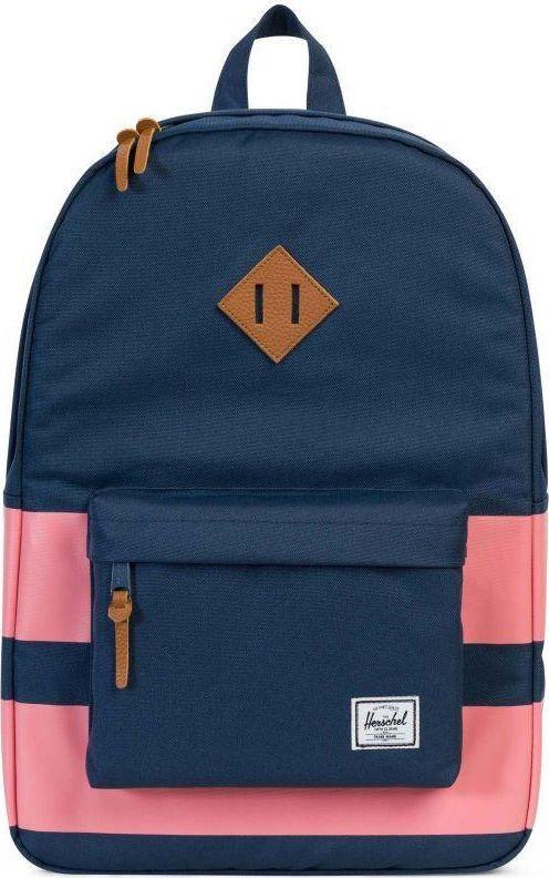 Рюкзак городской Herschel Heritage, цвет: синий, розовый, 21,5 л. 10007-01596-OS10007-01596-OSРюкзак Herschel Heritage это функциональный классический дизайн с особым внимание к деталям.