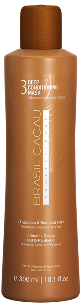 Brasil Cacau Маска глубокого кондиционирования 300 млPA0030Закрепляющая маска – приводит в норму кислотно-щелочной баланс волос и полотно волос получает достаточное количество питательных веществ.