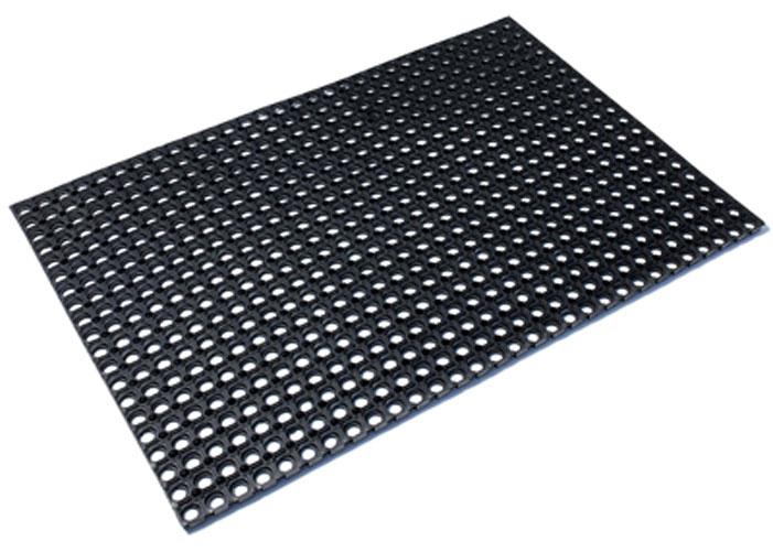 Коврик придверный Vortex, грязесборный, цвет: черный, 40 х 60 см20096Коврик ячеистый, грязесборный 40*60*1,2см VORTEX