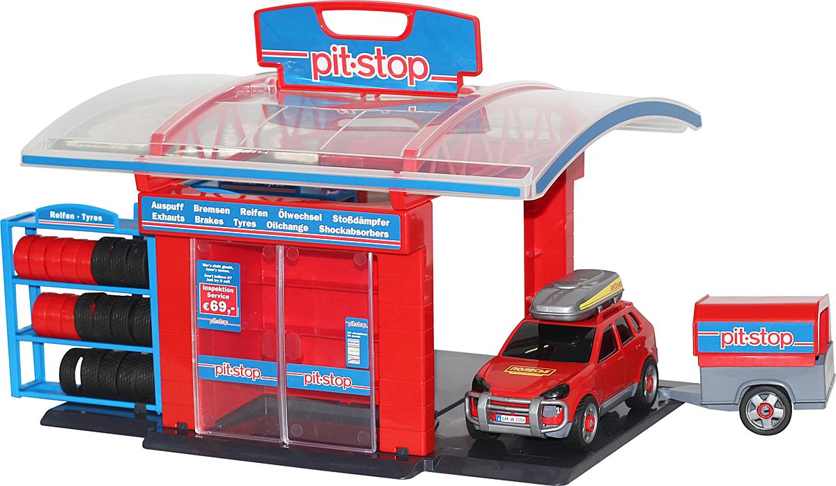 Полесье Игровой набор Тюнинг-центр Pit-Stop №1