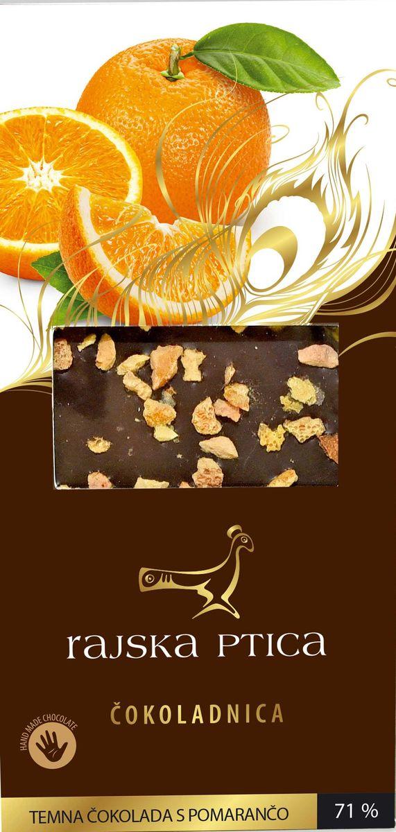 Райская птица тёмный шоколад 71% с апельсином, 85 г3830042990062Шоколад Райская птица ручной работы выполнен по традиционной бельгийской рецептуре из лучших какао бобов.