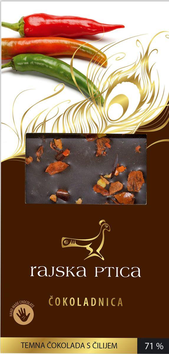 Райская птица тёмный шоколад 71% с перцем чили, 85 г3830042990123Шоколад Райская птица ручной работы выполнен по традиционной бельгийской рецептуре из лучших какао бобов.