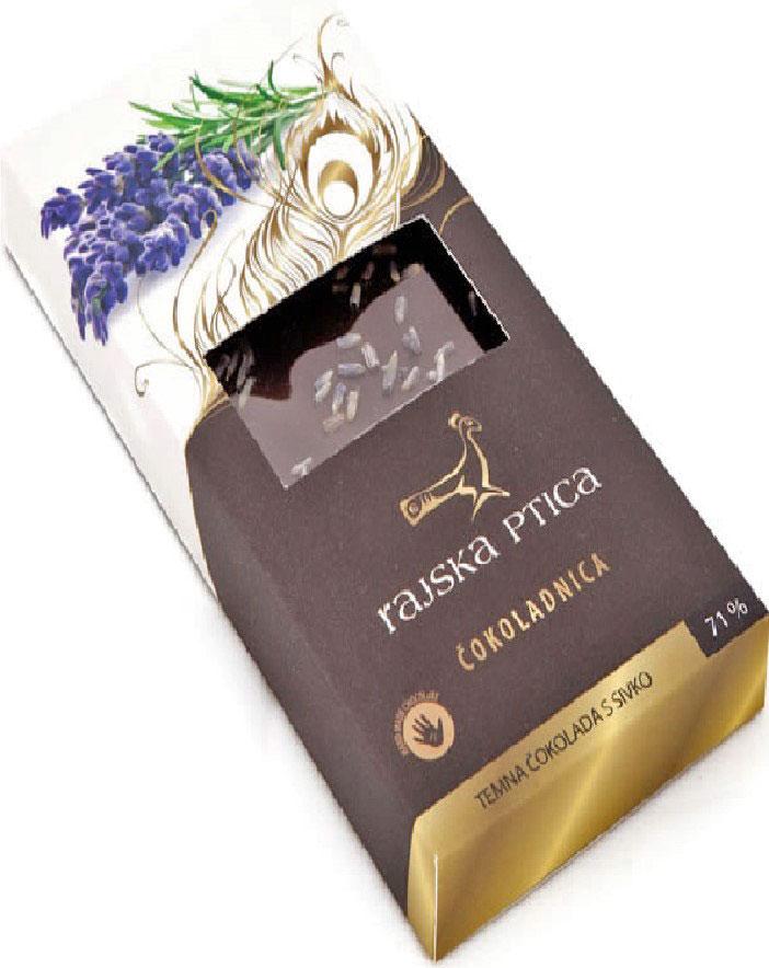 Райская птица тёмный шоколад 71% с лавандой, 85 г3830042990208Шоколад Райская птица ручной работы выполнен по традиционной бельгийской рецептуре из лучших какао бобов.