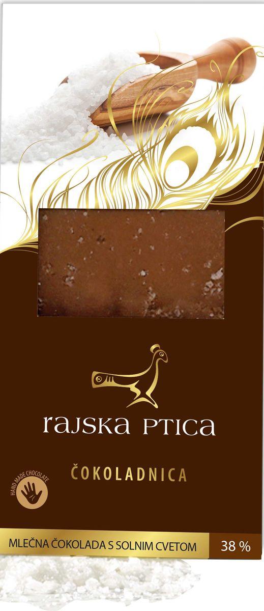 Райская птица молочный шоколад 38% с цветком соли, 85 г3830042994657Шоколад Райская птица ручной работы выполнен по традиционной бельгийской рецептуре из лучших какао бобов.