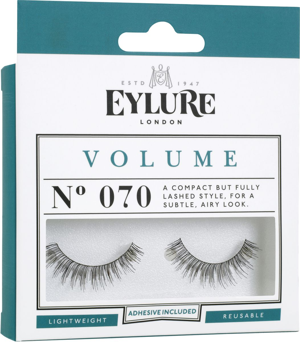 Eylure Накладные реницы объемные Volume. 60011076001107Накладные ресницы из натурального волоса для создания эффекта длины.