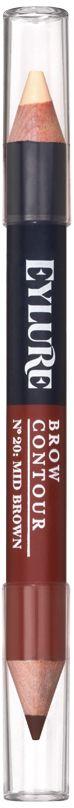 Eylure Двухсторонний контур для бровей, тон 20 коричневый, 11 г6008131Двухсторонний контур для бровей 20 Коричневый
