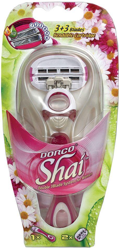 Dorco Cтанок для бритья  Shai 3+3 , женский, 2 сменные кассеты - Женские средства для депиляции и бритья
