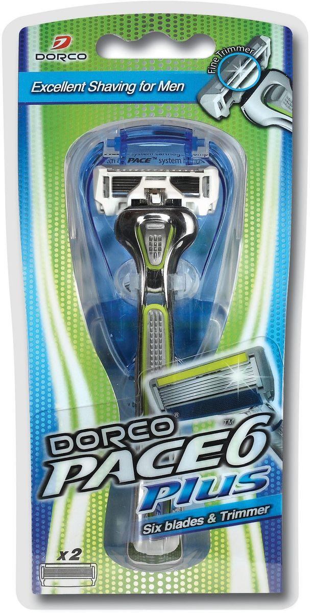 Dorco Cтанок для бритья  Pace 6 , с триммером, 2 сменные кассеты - Женские средства для депиляции и бритья