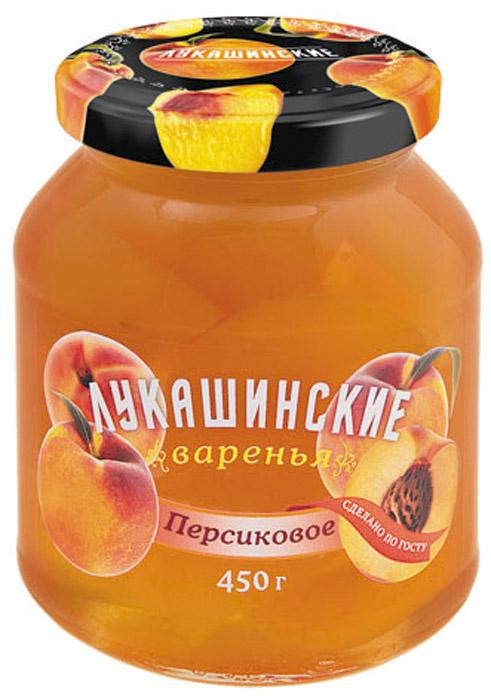Лукашинские варенье персиковое, 450 г4665301640261Продукт произведен только из отборного Российского сырья.