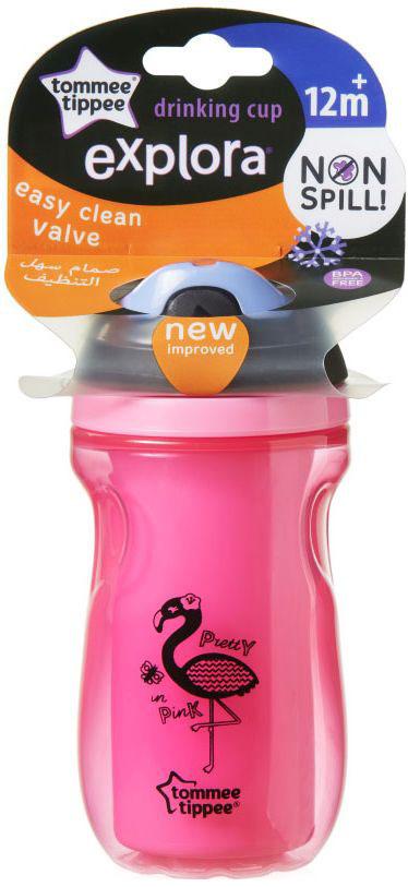 Tommee Tippee термочашка Explora с мягким носиком цвет розовый -  Поильники