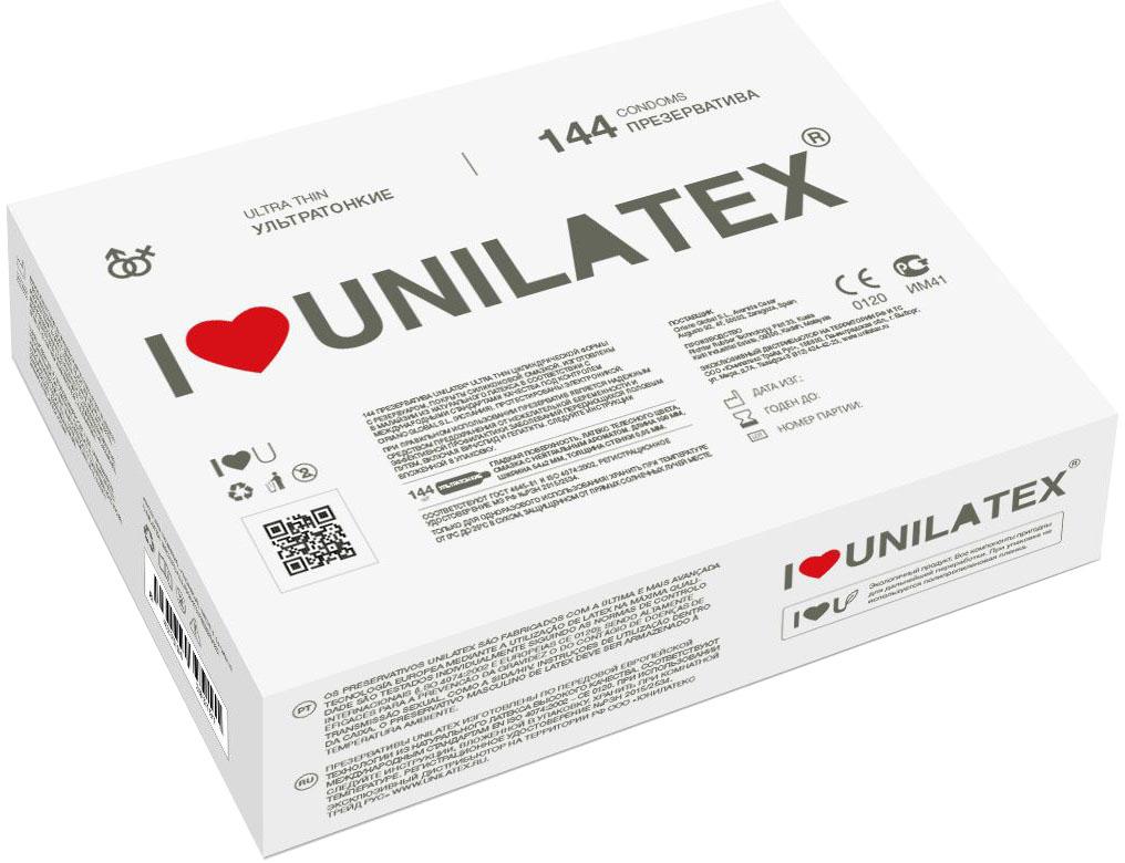 Презервативы Unilatex UltraThin, 144 шт.Ref.3016Ультратонкие презервативы из натурального латекса телесного цвета, с гладкойповерхностью, покрыты силиконовой смазкой с нейтральным ароматом.