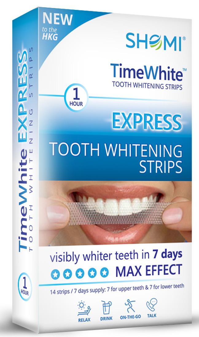 Shomi Time White Exspress 7 Day Отбеливающие полоски для зубов с новой формулой без переоксида водорода 14 полосок -7 пар7-DAYSHOMI TIME WHITE EXSPRESS 7 DAY - эффективное и безопасное средство для профессионального отбеливания зубов в домашних условиях.Описание товара: Отбеливающие полоски SHOMI TIME WHITE EXPRESS – ваши зубы станут белее за 1 день! Инновационная европейская запатентованная формула безопасная для ваших зубов, не содержащая перекись водорода и карбомид, удалит потемнение эмали от кофе, вина и сигарет.После полного курса вы получите идеальную белоснежную улыбку всего за 7 дней. Результат длится более 1 года. Отбеливающие полоски SHOMI TIME WHITE хорошо прилегают и легко снимаются – удобны в использование в любое для вас время.