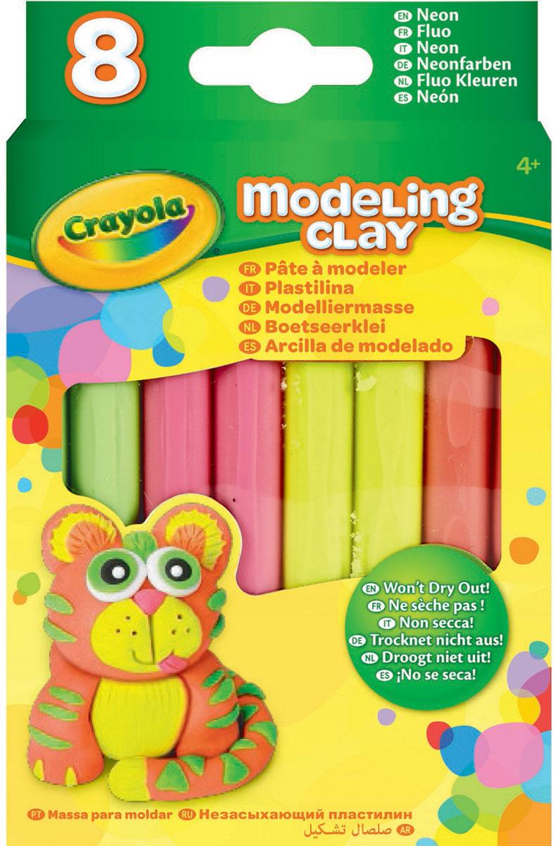 Crayola Пластилин Неоновый 8 цветов -  Пластилин