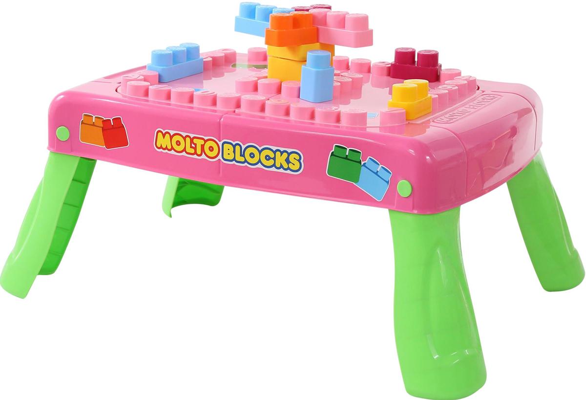 Полесье Набор игровой с конструктором с элементом вращения цвет розовый - Конструкторы
