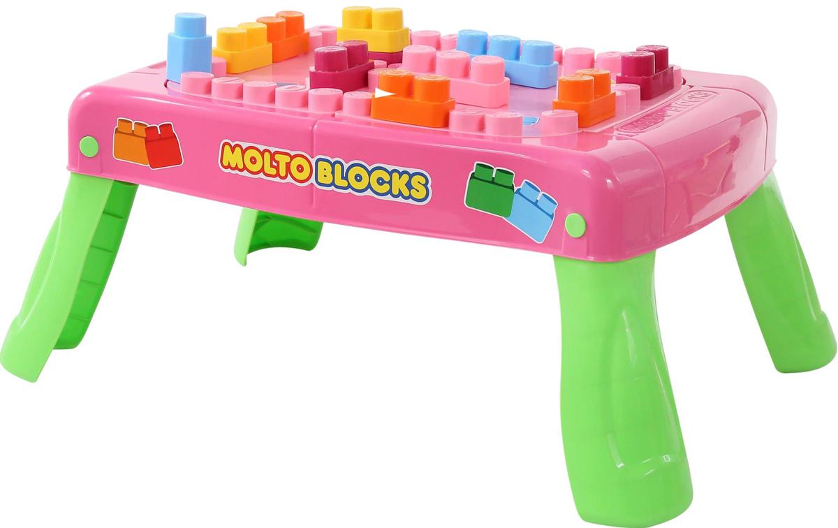 Полесье Набор игровой с конструктором цвет розовый - Конструкторы