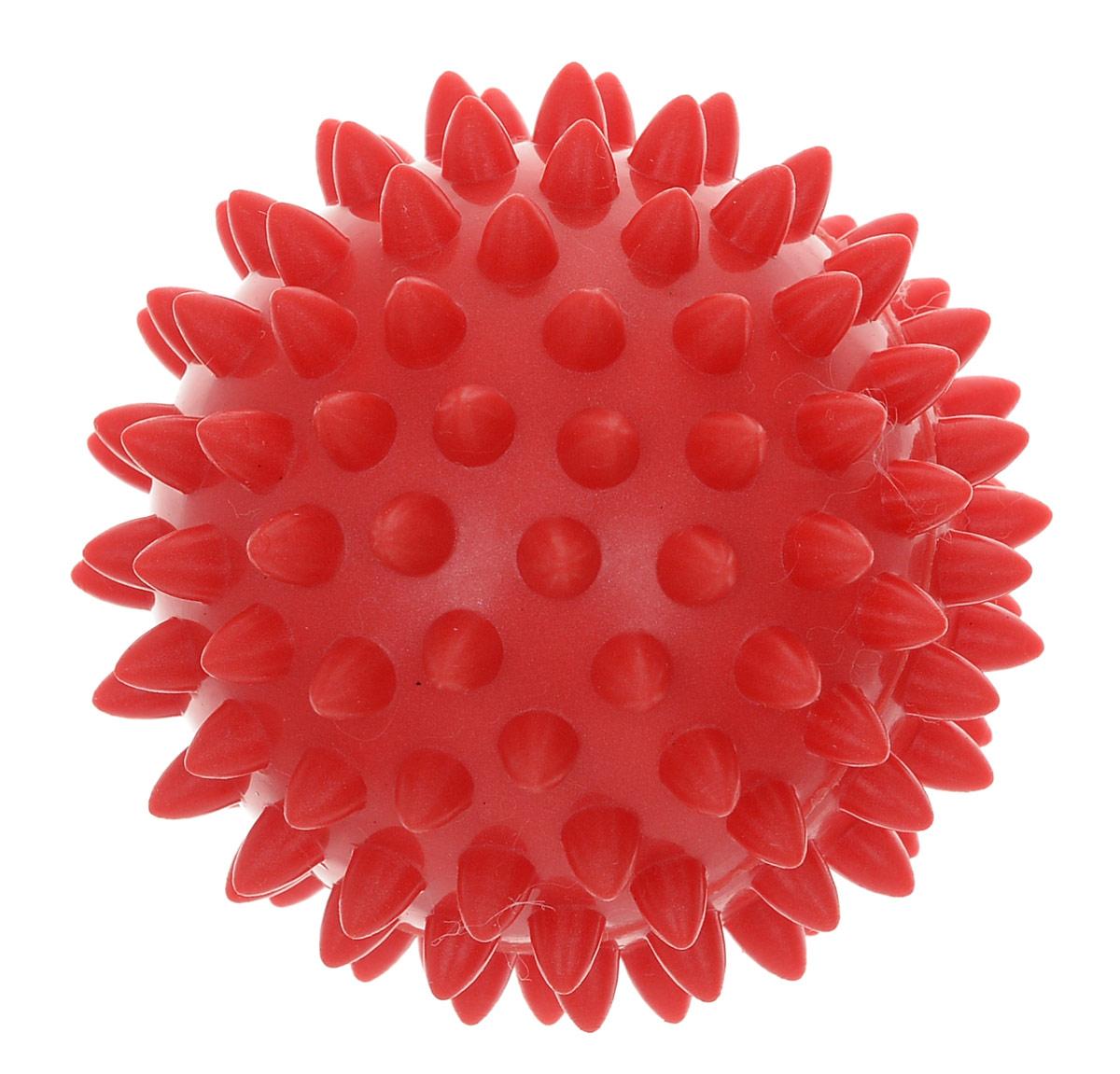 Мяч массажный AS4, цвет: красный, 7 см. SM-1MCI54145_WhiteИгольчатая поверхность благотворно воздействует на нервные окончания и способствует улучшению кровообращения. Идеален для массажа и самомассажа детей и взрослых, для профилактики целлюлита. Подходит для занятий фитнесом и йогой.Характеристики: Диаметр мяча: 7 см. Цвет: красный. Материал: ПВХ. Производитель: Китай. Артикул: SM-1.
