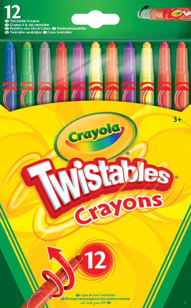 Crayola Набор восковых мелков 12 шт58-8530Набор из 12 выкручивающихся восковых мелков 58-8530 Crayola станет отличным подарком для юного художника. Он позволит ребенку проявить творческие способности, выработает усидчивость и аккуратность. В комплект входят 12 восковых мелков разных цветов, предназначенных для рисования на бумаге. С помощью них малыш сможет раскрасить уже готовый рисунок или нарисовать свой, а затем украсить готовым изображением комнату или подарить его родственникам.Восковые мелки от компании Crayola обладают отменным качеством, они не крошатся, не пачкают ручки, абсолютно безопасны для здоровья и имеют в составе только натуральные компоненты. Рекомендуемый возраст: от 3 лет.