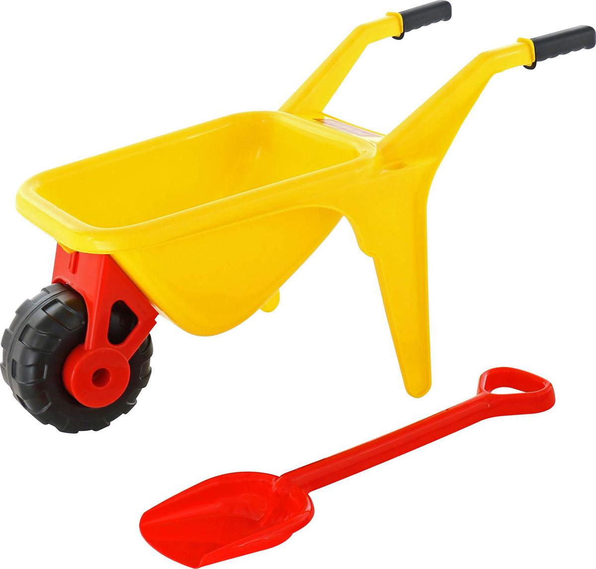 Полесье Набор игрушек для песочницы Тачка Садовод с лопатой - Игры на открытом воздухе