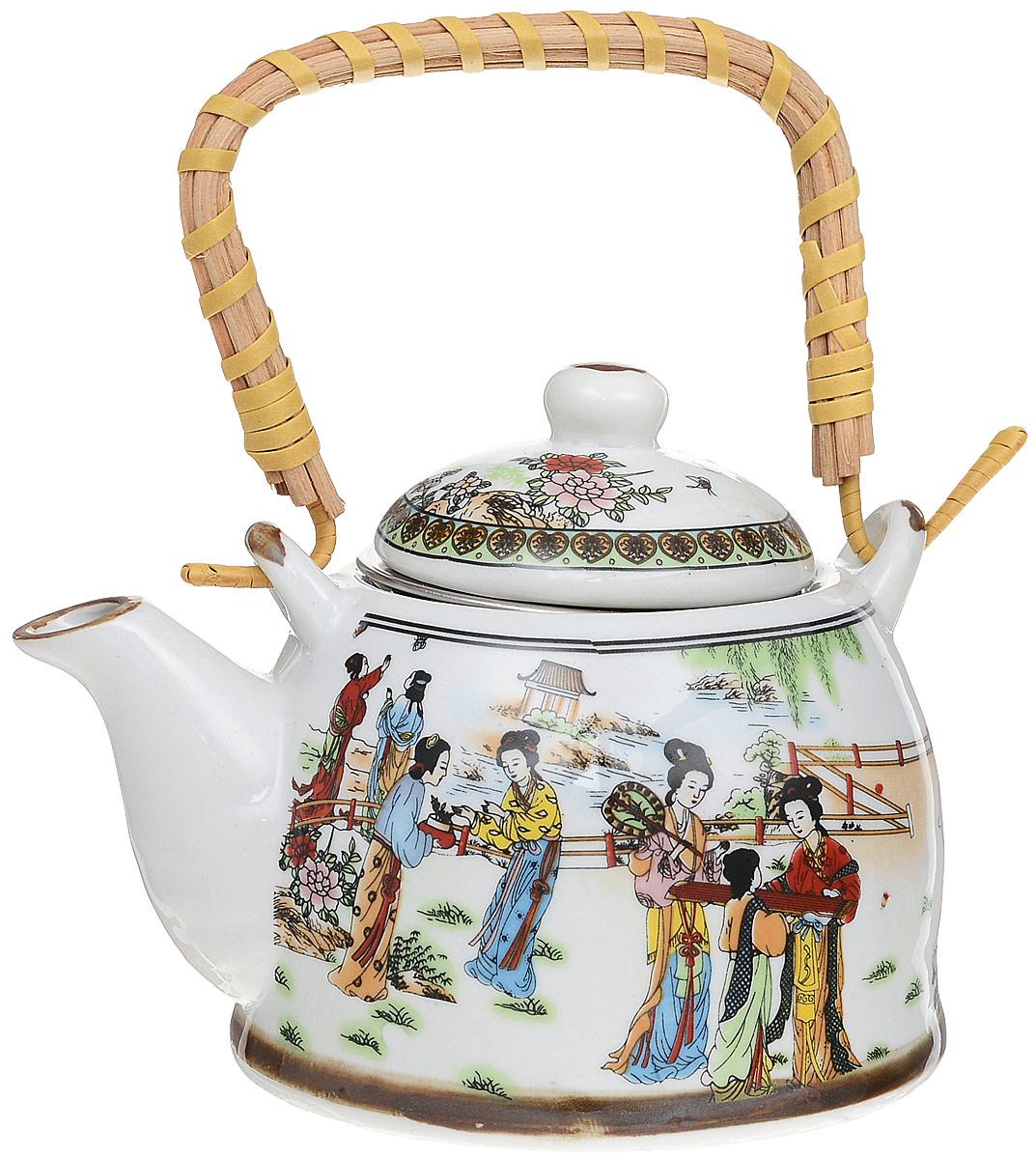 Чайник заварочный Patricia Девушки, с фильтром, 400 мл68/5/4Заварочный чайник Patricia Девушки изготовлен из высококачественной керамики с гладким глазурованным покрытием. Изделие снабжено металлическим фильтром и съемной ручкой.Любой чай в таком изысканном чайнике станет для вас наслаждением, поводом отдохнуть и перевести дыхание. Он прекрасно украсит сервировку стола к чаепитию, а также станет хорошим подарком друзьям и близким. Диаметр (по верхнему краю): 7,5 см. Диаметр (по внутреннему краю): 5,5 см. Высота чайника (без учета крышки): 7,5 см. Высота фильтра: 4 см.