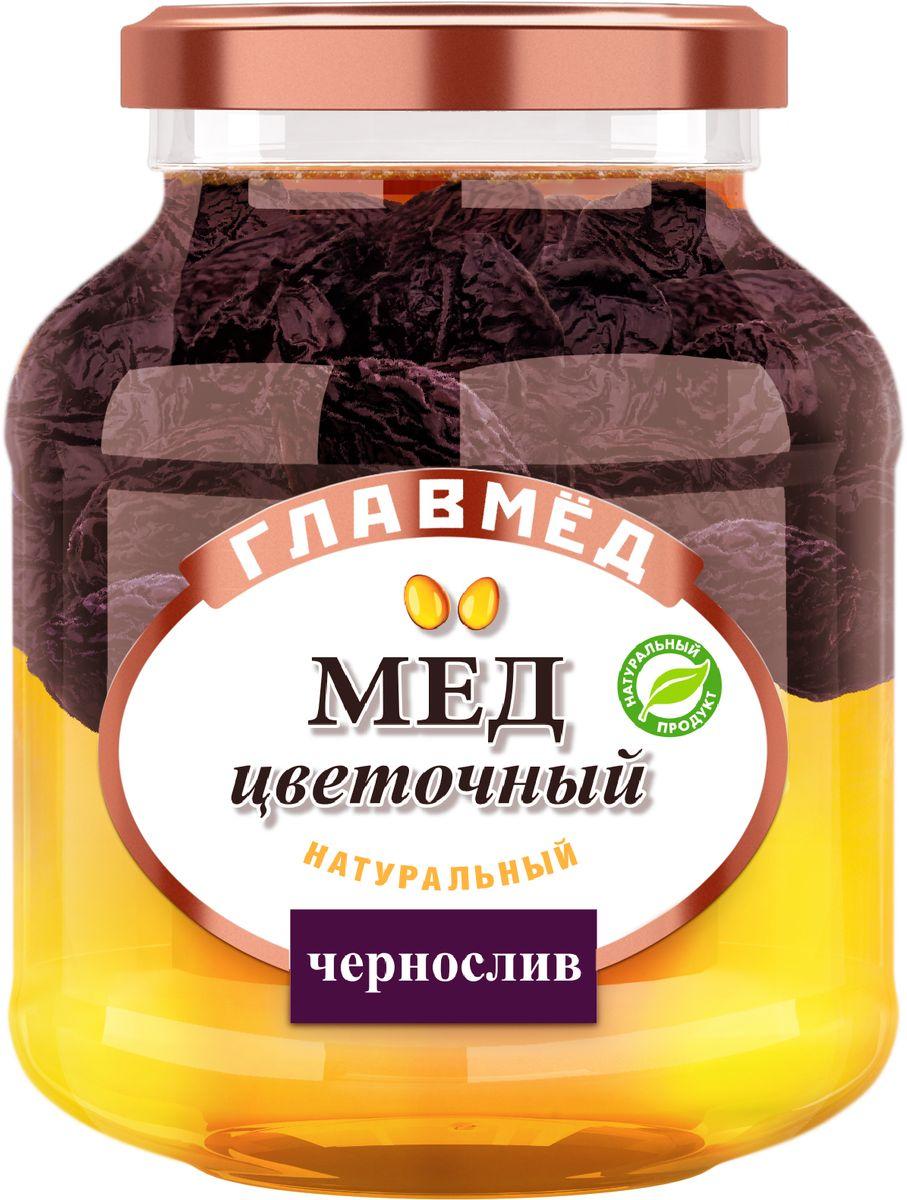 Главмед мед с черносливом, 450 г18.7330ГЛАВМЕД – натуральный цветочный мед с добавлением орехов, арахиса и сухофруктов.