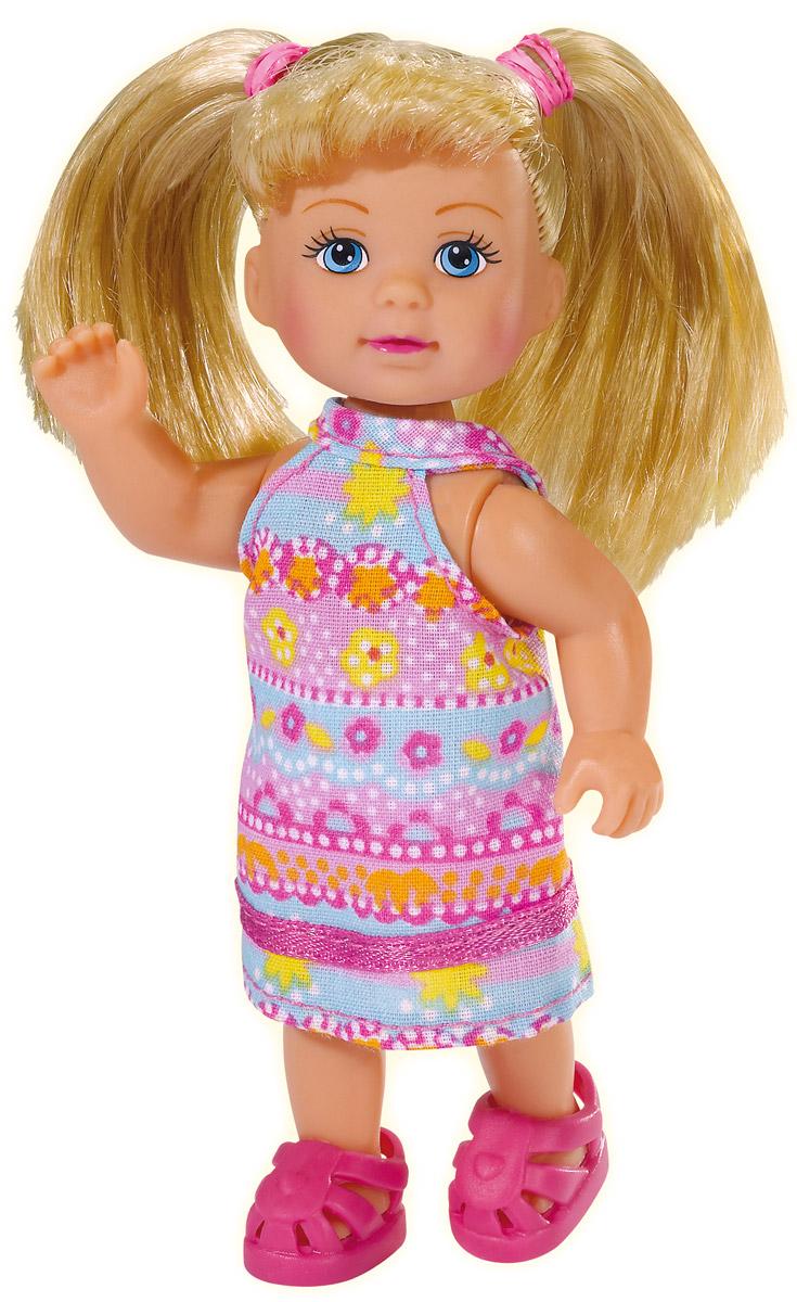 Simba Мини-кукла Еви в летней одежде цвет розовый