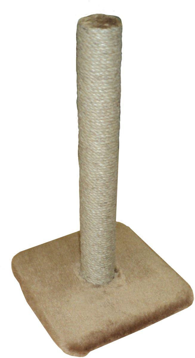 Когтеточка ЛапкинДом, цвет: коричневый, 32 х 32 х 55 смСДКЧ8Когтеточка ЛапкинДом дополнена снизу горизонтальной площадкой под мехом, для большего комфорта питомца. Проложена поролоном.Размер: 32 х 32 х 55 см.