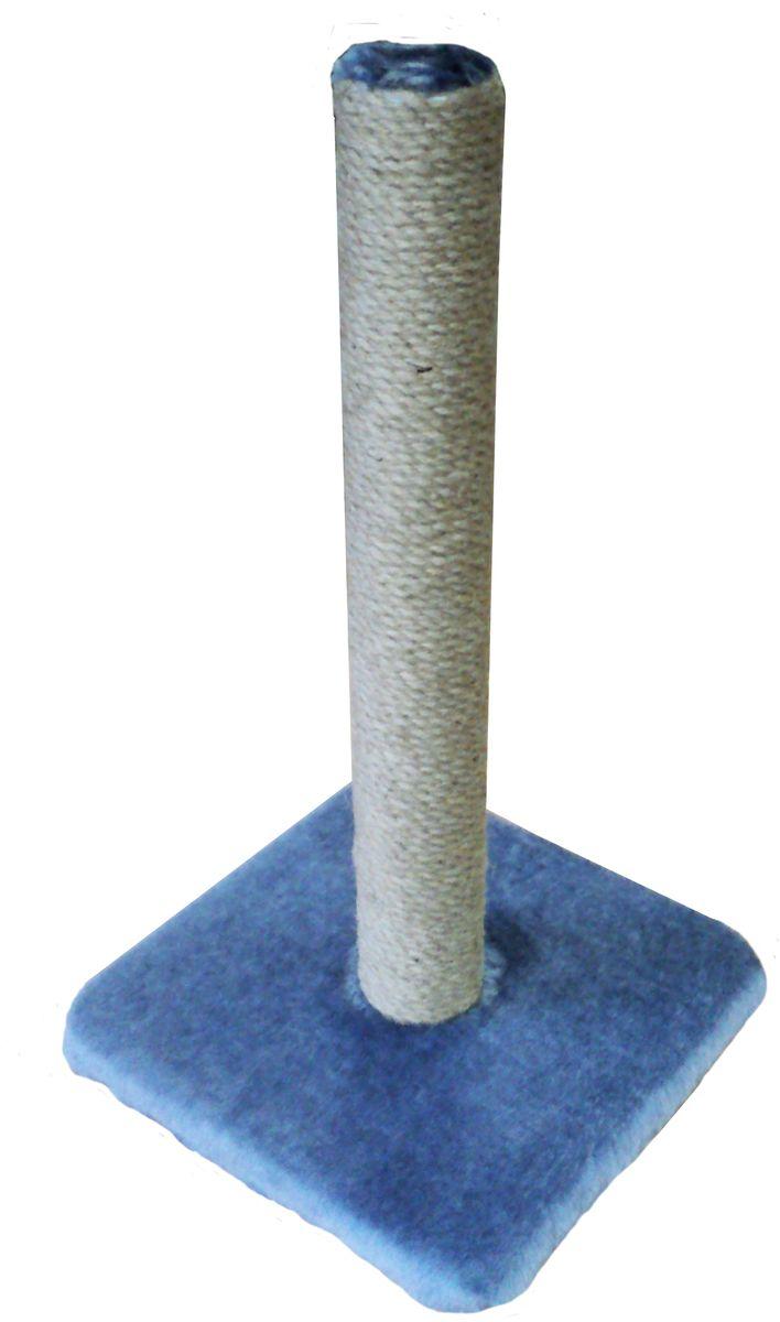 Когтеточка ЛапкинДом, цвет: серый, 32 х 32 х 55 смСДС9Когтеточка ЛапкинДом дополнена снизу горизонтальной площадкой под мехом, для большего комфорта питомца. Проложена поролоном.Размер: 32 х 32 х 55 см.
