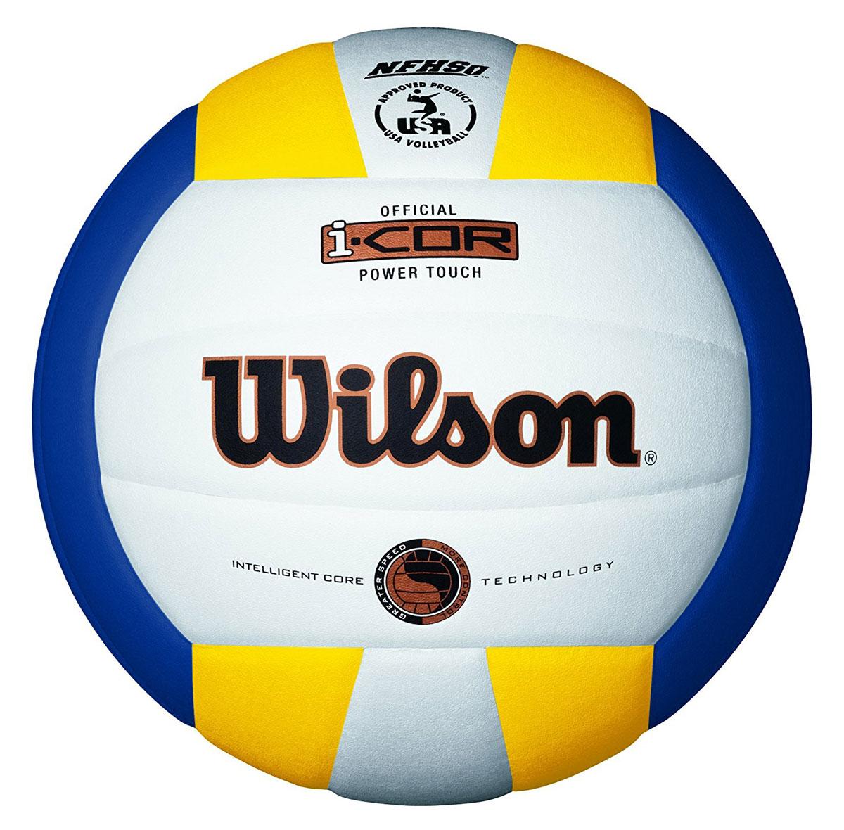 Мяч волейбольный Wilson I-Core Power Touch, цвет: белый, синий, желтый, диаметр 20 см10535Волейбольный мяч Wilson I-Core Power Touch вобрал в себя все лучшие технологии для комфортных тренировок и игр команд любого уровня. Поверхность мяча выполнена из высокотехнологичного композитного материала на основе микрофибры, с применением технологии Soft Touch, имитирующей по ощущениям натуральную кожу и обеспечивающей правильный отскок. Мяч оснащен бутиловой камерой.Диаметр мяча: 20 см.УВАЖЕМЫЕ КЛИЕНТЫ!Обращаем ваше внимание на тот факт, что насос в комплект не входит.