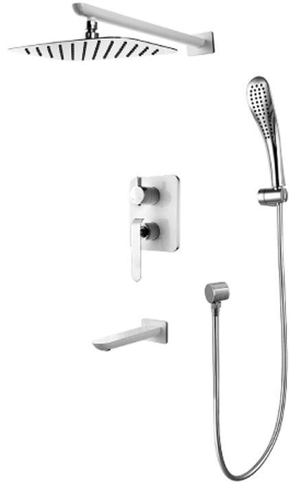 Смеситель встраиваемый Lemark Melange, для ванны и душаLM4922CWMELANGE LM4922CW.Смеситель для ванны и душа встраиваемый.Комплектация:• встраиваемый наполнитель для ванны со скрытым аэратором Neoperl® Slim SSR с изменяемым углом подачи воды• керамический картридж Sedal® 35 мм• трехпозиционный картриджный переключатель• верхняя поворотная душевая лейка «Тропический дождь» 200х300 мм• 1-функциональная лейка• настенное поворотное крепление для лейки• душевой шланг 2 м, ПВХ• подключение для душевого шланга• металлическая рукояткаСмесители LEMARK рассчитаны на 30 лет комфортной эксплуатации.В них соединены современные технологии производства и продуманный конструктив. Установлены комплектующие от известных мировых производителей, являющихся лидерами в своих сегментах:• немецкие аэраторы Neoperl – устройства, регулирующие расход воды;• керамические картриджи и кран-буксы испанской фирмы Sedal.Вся продукция LEMARK устанавливается не только в частном секторе, но и с успехом эксплуатируется в офисах Hewlett-Packard, Walt Disney Studios Sony Pictures Releasing, Mail.ru Group, а также в новом терминале аэропорта «Толмачево» в Новосибирске.Сегодня на смесители LEMARK установлен беспрецедентный 10-летний период бесплатного сервисного обслуживания. Данное условие действует, даже если монтаж изделий производится покупателями cамостоятельно.Сервисная сеть насчитывает 90 гарантийных мастерских по России и странам СНГ.