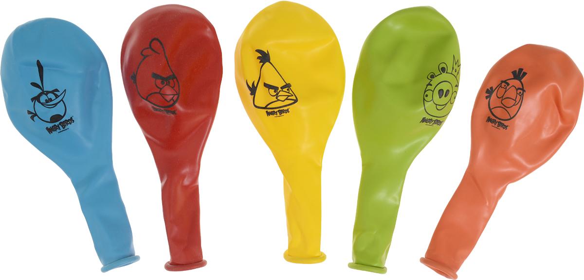 Веселая затея Набор воздушных шаров Angry Birds 5 шт