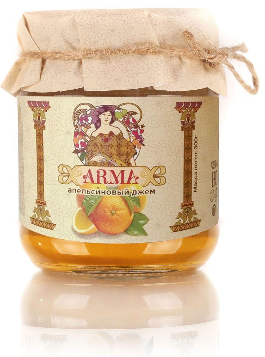Arma Джем апельсиновый, 300 г10.52.09Джем апельсиновый ARMA оригинальный натуральный дессерт на самый изысканный вкус.Это настоящий подарок для гурмана.Обладая восхитительным вкусом и полезными свойствами свежих плодов, варенье не уступает домашним заготовкам.