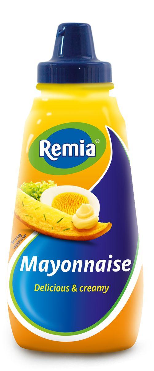 Remia майонез классический, 0,35 л10.43.50REMIA - соусы и майонезы для истинных гурманов. Классический майонез идеален для самых различных блюд: для бургеров, салатов, для курицы и картофеля фри, для барбекю и роллов.
