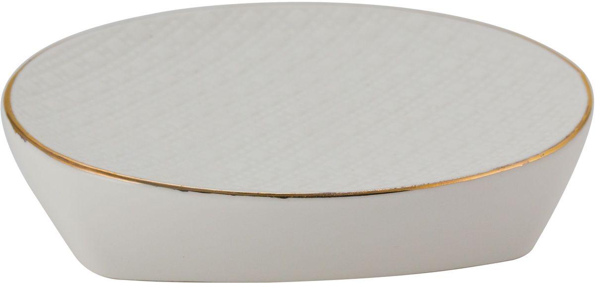 Мыльница Swensa Конте, керамика, цвет: белыйATP-462Мыльница из коллекции Конте прекрасно вписывается в интерьер ванной комнаты. Она отличается компактностью и простым, но стильным дизайном. Модель выполнена из керамики, что обеспечивает оптимальное соотношение массы и прочности. Изделие не боится воды, легко чистится и сушится. Мыльница прослужит долгие годы.