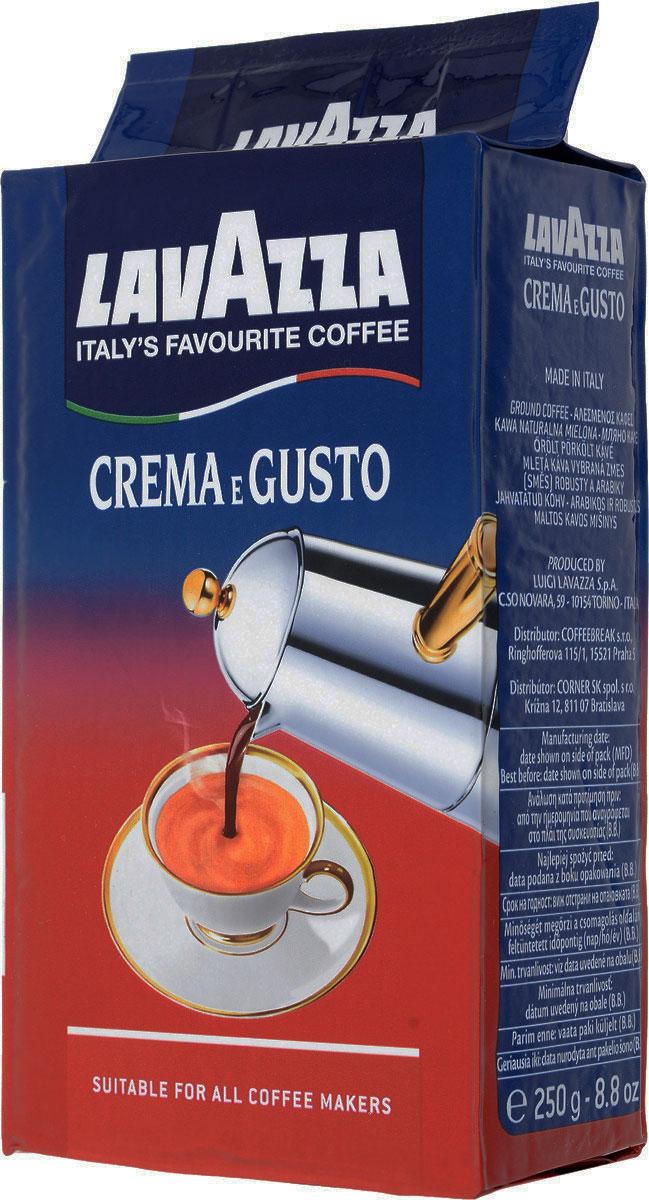 Lavazza Crema Gusto кофе молотый, 250 г3876Lavazza Crema Gusto - это великолепный купаж индийской робусты и бразильской арабики. Зерна были подвержены сильной обжарке, за счет которой получается крепкий и насыщенный вкус, а также густая пенка.