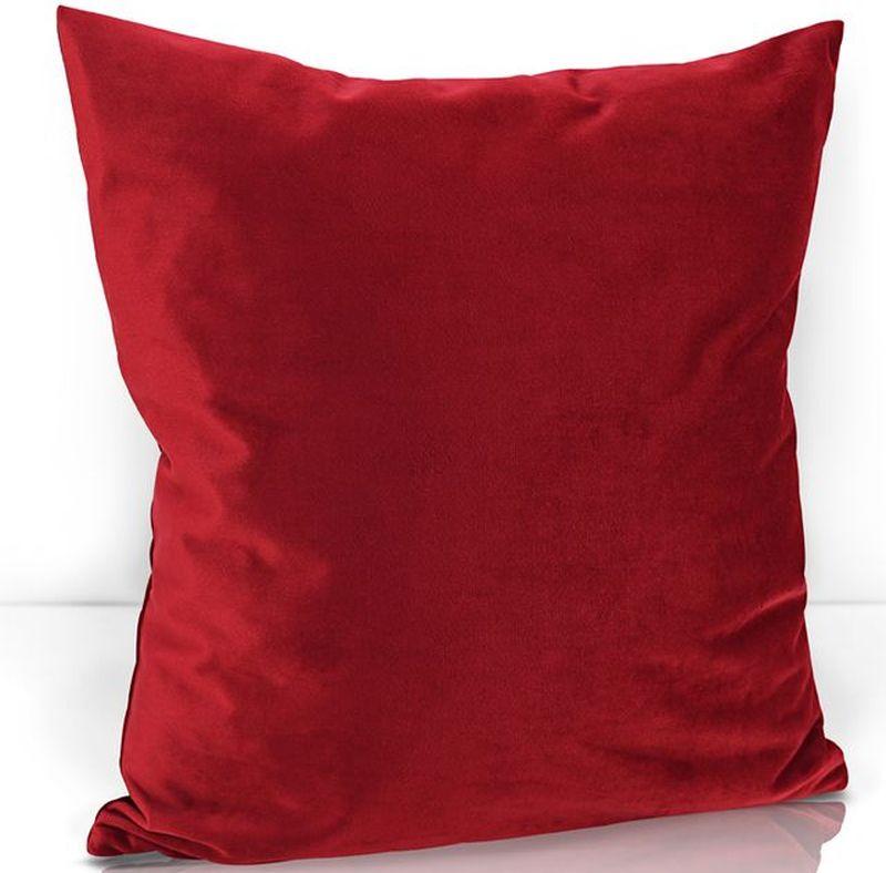 Подушка декоративная KauffOrt Велюр, цвет: красный, 40 х 40 см3122202670Комплектация: 1 Наволочка на молнии, 1 подушка (материал: спанбонд/наполнитель: холлофайбер). Материал: Велюр. Состав: 100% Полиэстер. Цвет: красный. Применение: гостиная, спальня, кабинет, детская.