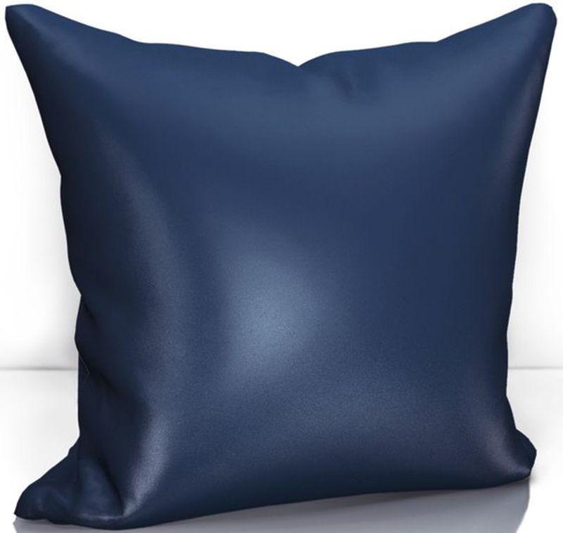 Подушка декоративная KauffOrt Эвелина, цвет: синий, 40 х 40 см3122301646Комплектация: 1 Наволочка на молнии, 1 подушка (материал: спанбонд/наполнитель: холлофайбер). Материал: Сатен. Состав: 100% Полиэстер. Цвет: темно - синий. Применение: гостиная, спальня.