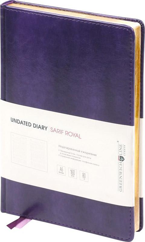 Greenwich Line Ежедневник Sarif Royal 160 листов цвет фиолетовый -  Ежедневники, блокноты, записные книжки