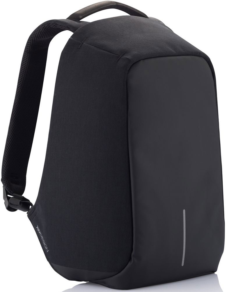 Рюкзак для ноутбука XD Design Bobby, до 15, цвет: черный, серый, 20 лP705.541Стильный, удобный, продуманный до мелочей городской рюкзак для настоящего гика с системой защиты от краж. Детально проработанная организация отделов позволяет грамотно распределить вес и снизить нагрузку на плечи. На первый взгляд незаметная молния в основной отдел идет прямо по краю спинки самого рюкзака. Уникальная концепция позволяет открывать рюкзак под тремя разными углами: 30°, 90°, 180°. Для создания прочной конструкции и защиты от порезов используется пять слоев из разного типа материалов.• Полная защита от карманников: не открыть, не порезать.• USB-порт для зарядки гаджетов от спрятонного внутри рюкзака аккумулятора.• Светоотражающие полосы.• Супер-легкий: на 25% легче аналогов.• Отделение для ноутбука до 15,6.• Отделение для планшета.• Влагозащита.• Лямка для крепления на чемодан.