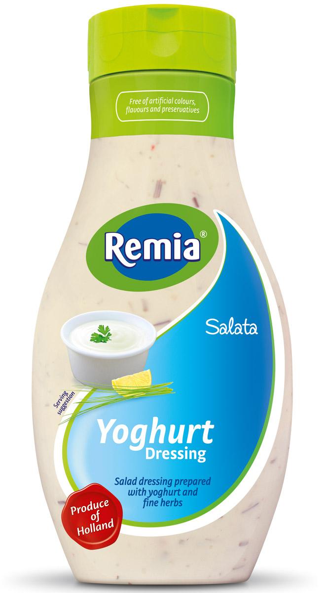 Remia Salata Yoghurt Dressing соус салатный йогуртовый, 0,5 л10.43.62Идеальный соус для повседневного использования, придаст пикантность чипсам, рыбе, барбекю, салатам.