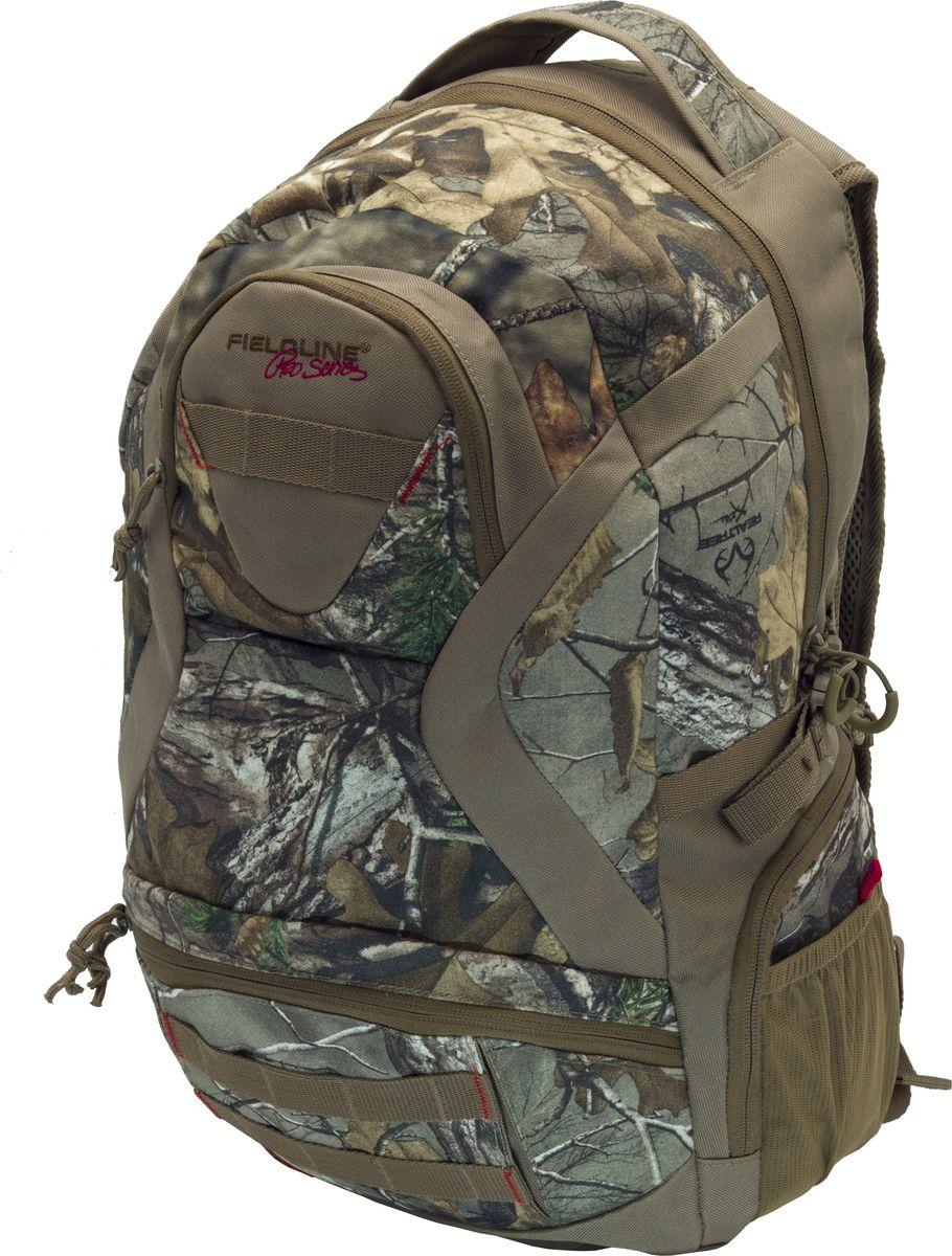 Рюкзак для охоты Fieldline Eagle Back Pack, цвет: камуфляж, светло-коричневый020968591358Рюкзак Eagle Back Pack 45.7x43.2x15.2cm QCB156FLРазмеры: 45.7 cm H x 43.2 m W x 15.2 cm Камуфлированный рюкзак для охоты выполненный из прочной, малошуршащей тканиМягкая, комфортная спинка подвесной системы4 больших внешних карманаДополнительный карман из сетки Нижний карман имеет встроенный органайзер и держатель для сотового телефона Профилированные, регулируемые по длине, плечевыеПрофилированный набедренный ременьБоковые компрессионные стропыБесшумные пулеры на молнии Специальный отсек –карман для стандартной 2-х литровой питьевой системы (питьевая система продается отдельно)