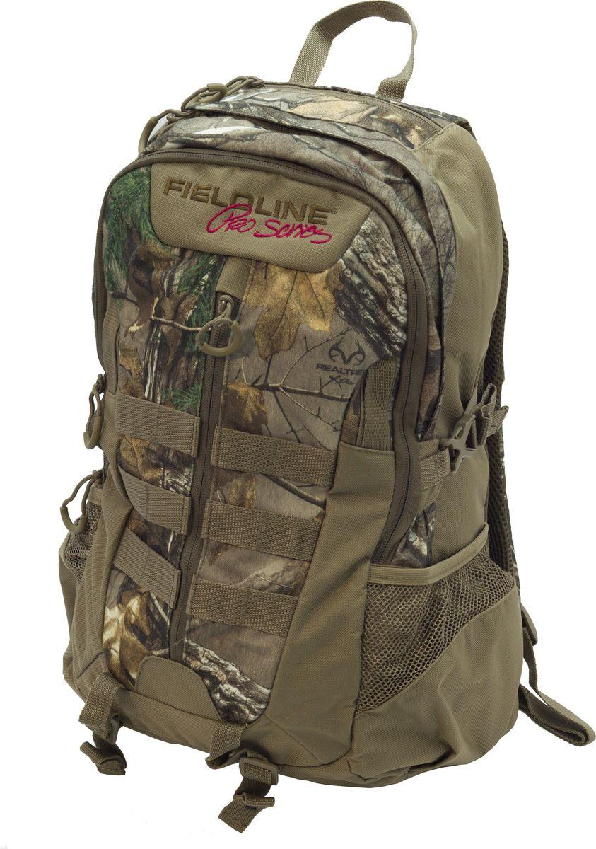 """Рюкзак для охоты Fieldline Badger Back Pack, цвет: камуфляж, коричневый020968594915Рюкзак Badger Back Pack 49,5 х 27,5 х 18,5 см FCB020MEIРазмеры: 49,5 cm x 27,5 cm x 18,5 cm Рюкзак для охоты выполненный из прочной, малошуршащей ткани Центральный отсек на молнии с возможностью открытия на ? длины Профилированная спинка для комфортного ношения Боковой карман для питьевой бутылки Фронтальный карман с 3-секционным органайзером Бесшумные пулеры на молнии """"Y образные плечевые ремни с центральной регулировочной поперечной утяжкойБоковые стороны рюкзака имеют стропы для крепления дополнительного снаряжения"""