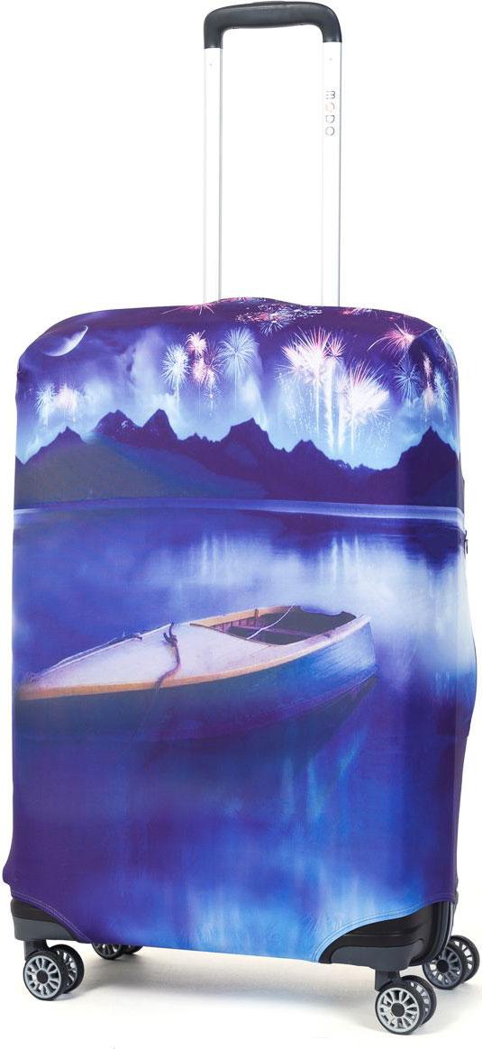 Чехол для чемодана Mettle Night Lake, размер M (высота чемодана: 65-75 см)LK-21000030Модный универсальный чехол для чемодана METTLE, подходит для средних чемоданов размера М (высота: 65-75 см, ширина: 40-46 см, глубина: 25-32 см). Он выполнен из спандекса. Эластичная ткань со специальной UF-водоотталкивающей пропиткой лучше защитит ваш чемодан от грязи и солнечных лучей. Картинка чехла надолго останется яркой и красочной. Две боковые потайные молнии, усиленные дополнительными швами, предохраняют боковые стороны и ручки чемодана от царапин и легких повреждений. Резинка с удобной соединяющей застёжкой надёжно фиксирует чехол на чемодане. Нижняя молния имеет автоматический замок бегунка. В швы багажного чехла дополнительно вшит эластичный жгут для лучшей усадки и фиксации на чемодан. Вся фурнитура изготовлена в фирменном дизайне METTLE.Чехол упакован в функциональный мешочек из аналогичной ткани, который вы сможете использовать для хранения и переноски предметов небольшого размера.