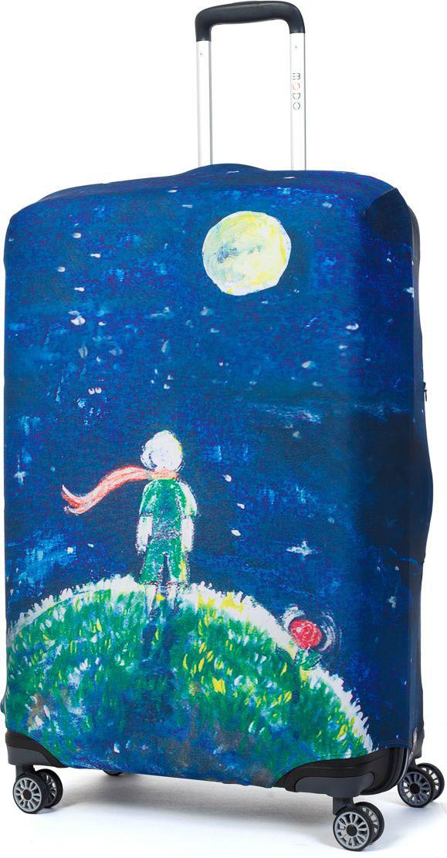 Чехол для чемодана Mettle Little Prince, размер L (высота чемодана: 75-82 см)LK-21000052Модный универсальный чехол для чемодана от компании METTLE, подходит для больших чемоданов размера L и даже XL (высота: 75-82СМ, ширина: 46-54СМ, глубина: 29-36СМ). Эластичная ткань со специальной UF-водоотталкивающей пропиткой лучше защитит ваш чемодан от грязи и солнечных лучей. Картинка чехла надолго останется яркой и красочной. Две боковые потайные молнии, усиленные дополнительными швами, предохраняют боковые стороны и ручки чемодана от царапин и легких повреждений. Резинка с удобной соединяющей застёжкой надёжно фиксирует чехол на чемодане. Нижняя молния имеет автоматический замок бегунка. В швы багажного чехла дополнительно вшит эластичный жгут для лучшей усадки и фиксации на чемодан. Вся фурнитура изготовлена в фирменном дизайне METTLE. Дополнительно мы упаковали чехол для чемодана METTLE в функциональный мешочек из аналогичной ткани, который вы сможете использовать для хранения и переноски предметов небольшого размера. Забудьте об одноразовой багажной плёнке, чехол для чемод