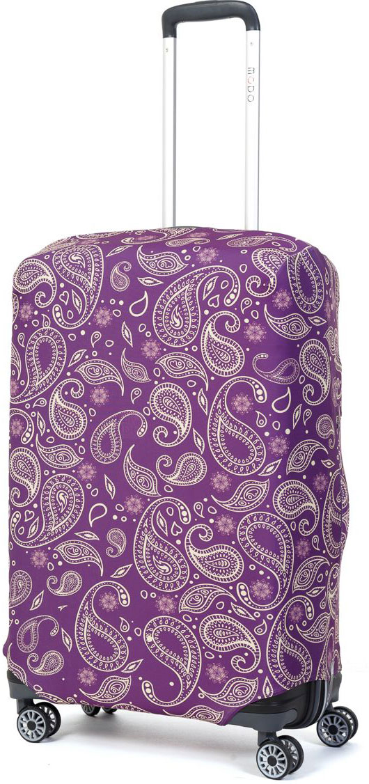 Чехол для чемодана Mettle Teness, размер M (высота чемодана: 65-75 см)LK-21000054Модный универсальный чехол для чемодана METTLE, подходит для средних чемоданов размера М (высота: 65-75 см, ширина: 40-46 см, глубина: 25-32 см). Он выполнен из спандекса. Эластичная ткань со специальной UF-водоотталкивающей пропиткой лучше защитит ваш чемодан от грязи и солнечных лучей. Картинка чехла надолго останется яркой и красочной. Две боковые потайные молнии, усиленные дополнительными швами, предохраняют боковые стороны и ручки чемодана от царапин и легких повреждений. Резинка с удобной соединяющей застёжкой надёжно фиксирует чехол на чемодане. Нижняя молния имеет автоматический замок бегунка. В швы багажного чехла дополнительно вшит эластичный жгут для лучшей усадки и фиксации на чемодан. Вся фурнитура изготовлена в фирменном дизайне METTLE.Чехол упакован в функциональный мешочек из аналогичной ткани, который вы сможете использовать для хранения и переноски предметов небольшого размера.