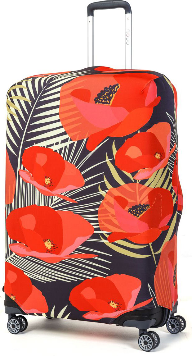 Чехол для чемодана Mettle Flowers, размер L (высота чемодана: 75-82 см)LK-21000061Модный универсальный чехол для чемодана от компании METTLE, подходит для больших чемоданов размера L и даже XL (высота: 75-82СМ, ширина: 46-54СМ, глубина: 29-36СМ). Эластичная ткань со специальной UF-водоотталкивающей пропиткой лучше защитит ваш чемодан от грязи и солнечных лучей. Картинка чехла надолго останется яркой и красочной. Две боковые потайные молнии, усиленные дополнительными швами, предохраняют боковые стороны и ручки чемодана от царапин и легких повреждений. Резинка с удобной соединяющей застёжкой надёжно фиксирует чехол на чемодане. Нижняя молния имеет автоматический замок бегунка. В швы багажного чехла дополнительно вшит эластичный жгут для лучшей усадки и фиксации на чемодан. Вся фурнитура изготовлена в фирменном дизайне METTLE. Дополнительно мы упаковали чехол для чемодана METTLE в функциональный мешочек из аналогичной ткани, который вы сможете использовать для хранения и переноски предметов небольшого размера. Забудьте об одноразовой багажной плёнке, чехол для чемод