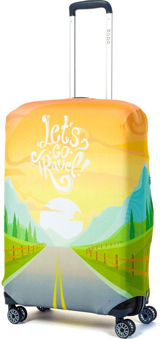 Чехол для чемодана Mettle Lets Go Travel, размер M (высота чемодана: 65-75 см)LK-21000069Модный универсальный чехол для чемодана METTLE, подходит для средних чемоданов размера М (высота: 65-75 см, ширина: 40-46 см, глубина: 25-32 см). Он выполнен из спандекса. Эластичная ткань со специальной UF-водоотталкивающей пропиткой лучше защитит ваш чемодан от грязи и солнечных лучей. Картинка чехла надолго останется яркой и красочной. Две боковые потайные молнии, усиленные дополнительными швами, предохраняют боковые стороны и ручки чемодана от царапин и легких повреждений. Резинка с удобной соединяющей застёжкой надёжно фиксирует чехол на чемодане. Нижняя молния имеет автоматический замок бегунка. В швы багажного чехла дополнительно вшит эластичный жгут для лучшей усадки и фиксации на чемодан. Вся фурнитура изготовлена в фирменном дизайне METTLE.Чехол упакован в функциональный мешочек из аналогичной ткани, который вы сможете использовать для хранения и переноски предметов небольшого размера.