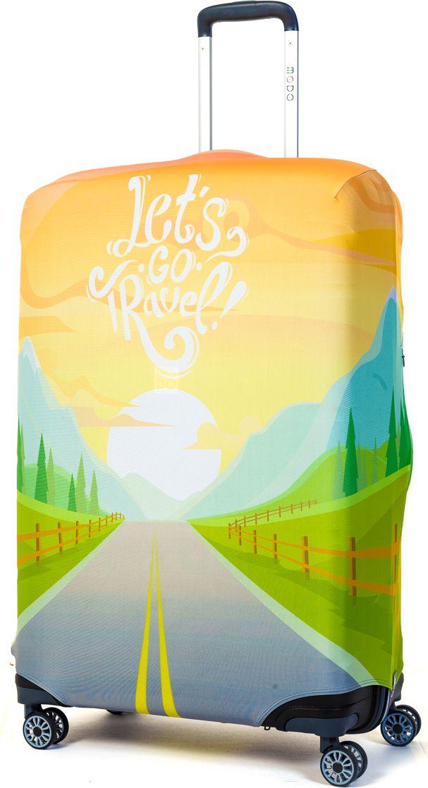 Чехол для чемодана Mettle Lets Go Travel, размер L (высота чемодана: 75-82 см)LK-21000070Модный универсальный чехол для чемодана METTLE, подходит для больших чемоданов размера L и даже XL (высота: 75-82 см, ширина: 46-54 см, глубина: 29-36 см). Он выполнен из спандекса. Эластичная ткань со специальной UF-водоотталкивающей пропиткой лучше защитит ваш чемодан от грязи и солнечных лучей. Картинка чехла надолго останется яркой и красочной. Две боковые потайные молнии, усиленные дополнительными швами, предохраняют боковые стороны и ручки чемодана от царапин и легких повреждений. Резинка с удобной соединяющей застёжкой надёжно фиксирует чехол на чемодане. Нижняя молния имеет автоматический замок бегунка. В швы багажного чехла дополнительно вшит эластичный жгут для лучшей усадки и фиксации на чемодан. Вся фурнитура изготовлена в фирменном дизайне METTLE.Чехол упакован в функциональный мешочек из аналогичной ткани, который вы сможете использовать для хранения и переноски предметов небольшого размера.