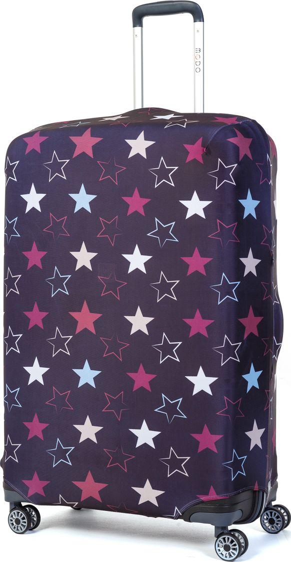 Чехол для чемодана Mettle Star, размер L (высота чемодана: 75-82 см)LK-21000079Модный универсальный чехол для чемодана METTLE, подходит для больших чемоданов размера L и даже XL (высота: 75-82 см, ширина: 46-54 см, глубина: 29-36 см). Он выполнен из спандекса. Эластичная ткань со специальной UF-водоотталкивающей пропиткой лучше защитит ваш чемодан от грязи и солнечных лучей. Картинка чехла надолго останется яркой и красочной. Две боковые потайные молнии, усиленные дополнительными швами, предохраняют боковые стороны и ручки чемодана от царапин и легких повреждений. Резинка с удобной соединяющей застёжкой надёжно фиксирует чехол на чемодане. Нижняя молния имеет автоматический замок бегунка. В швы багажного чехла дополнительно вшит эластичный жгут для лучшей усадки и фиксации на чемодан. Вся фурнитура изготовлена в фирменном дизайне METTLE.Чехол упакован в функциональный мешочек из аналогичной ткани, который вы сможете использовать для хранения и переноски предметов небольшого размера.
