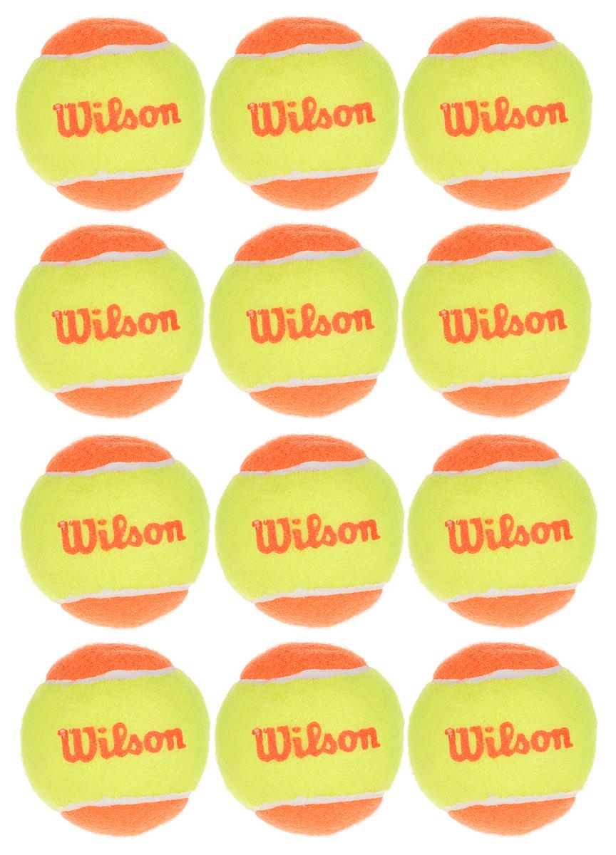 Мяч теннисный Wilson Starter Orange, 12 штWRT137200Теннисный мяч Wilson Starter Orange выполнен из войлочного материала и резины. Он специально разработан для тренировки и соревнований юных спортсменов в возрасте от 5 до 16 лет. В комплекте 12 мячей. Диаметр мяча: 6,5 см.